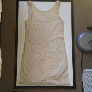 Candies fitted sleeveless beige dress size S